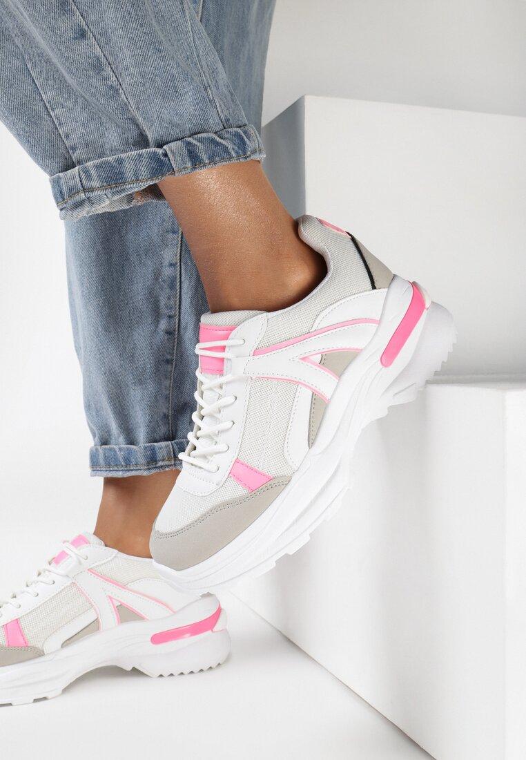 Sneakers Alb cu roz